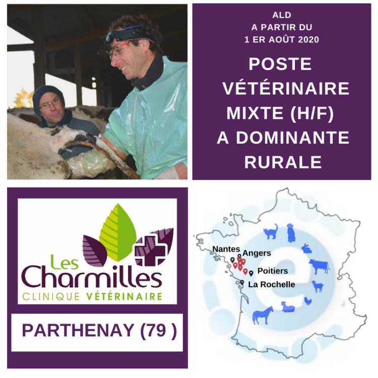 Offre poste vétérinaire mixte à dominante rurale au 1er août 2020